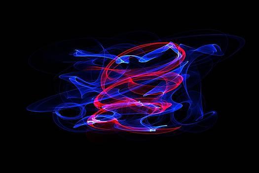 Blue and red by Angel Jesus De la Fuente
