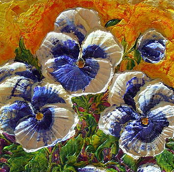 Blue and White Pansies by Paris Wyatt Llanso