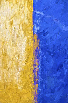 David Letts - Blue and Yellow Abstract