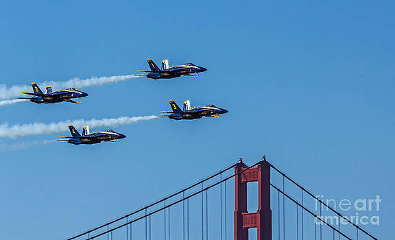 Kate Brown - Blue Angels over the Golden Gate