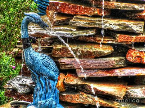 Jaclyn Hughes Fine Art - Blue Beauty Fountain