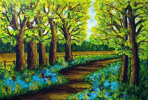 Blue Bell Pathway by Catherine Jeffrey