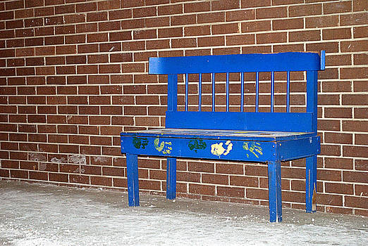 Blue Bench by Judy Salcedo