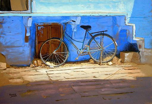 Blue Bicycle by Ramesh Jhawar