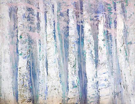 Blue Birches by Davina Nicholas