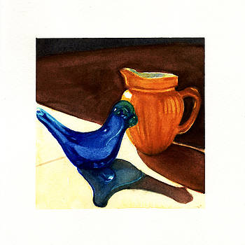 Blue Bird and Yellow Pitcher by Alice Picado