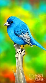 Chubby Blue Bird by Luis Padilla
