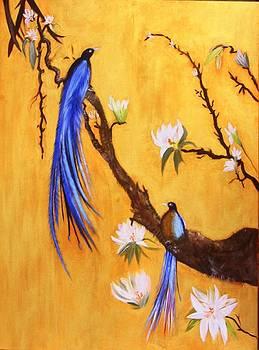 Blue  Birds  Of  Paradise by Catrina louise  Attard