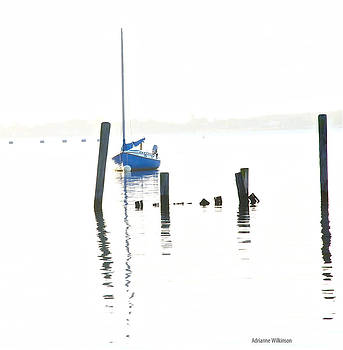 Blue Boat by Adrianne Wilkinson