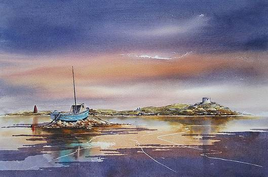 Blue Boat At Dalkey by Roland Byrne
