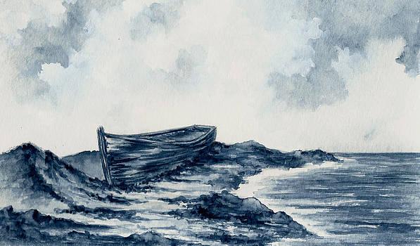 Blue Boat by Michael Vigliotti