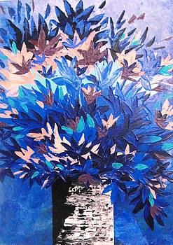 Blue bouquet by Shilpi Singh
