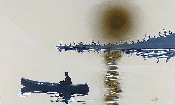 Blue Canoe by Jack Hanzer Susco