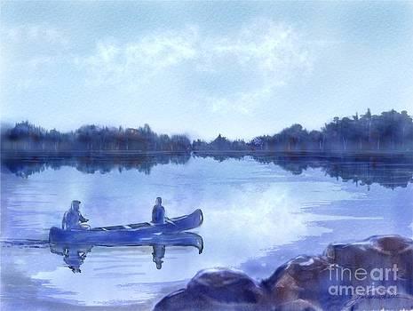 Blue Canoe by Joan A Hamilton