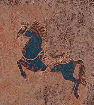 Scott Wheeler - Blue Carousel Horse