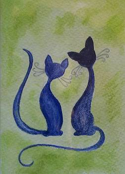 Blue cats in the spring by Liz Rosales