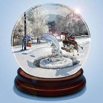 Douglas Martin - Blue Christmas Globe