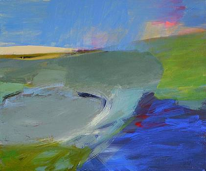 Blue Contemporary Water Paintings by River Lewis