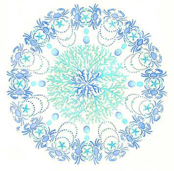 Blue Crab Mandala 5 by Stephanie Troxell