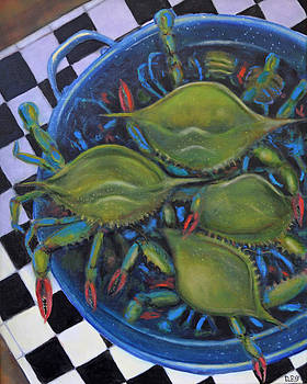 Blue Crabs In Pot by Dwain Ray