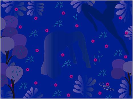 Blue Dance - Limited Edition  Of 30 by Gabriela Delgado