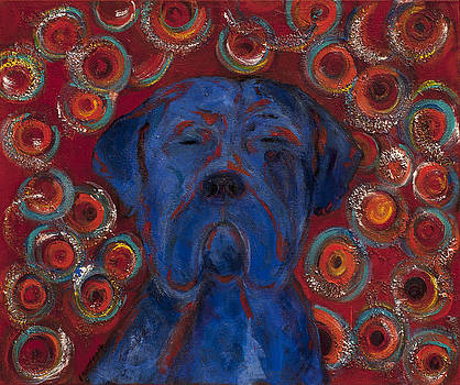 Blue Dog by Ellin Blumenthal