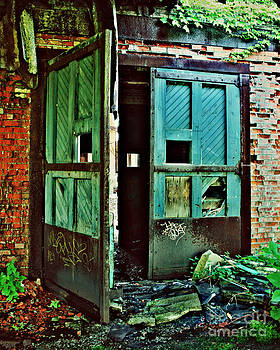 Blue Door at the Central Terminal by Jillian Audrey Photography
