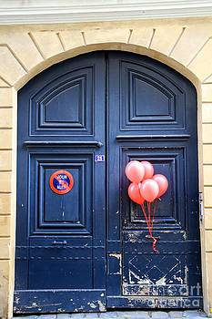 Blue Door Red Balloons by Julia Willard