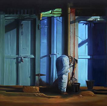 Blue Door by Sangeeta Takalkar
