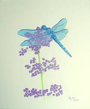 Blue Dragonfly by Peggy Miller