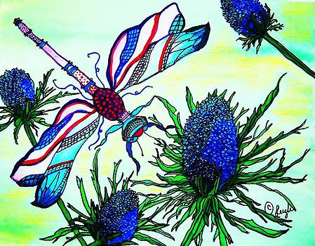 Blue DragonFly by Sharon Leigh