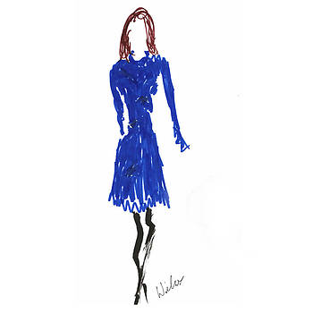 Mark Wilcox - Blue Dress 1