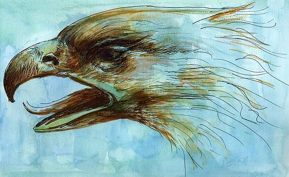 Blue Eagle Influenced by Past Master by Victoria Stavish