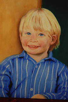 Blue Eyed Young Boy by Joan Glinert
