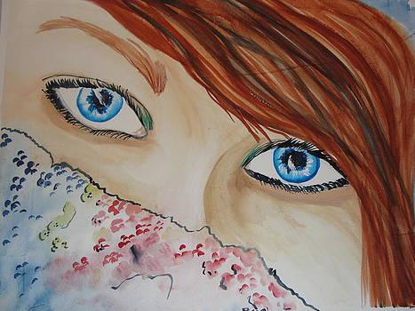 Blue eyes by Maureen Hargrove
