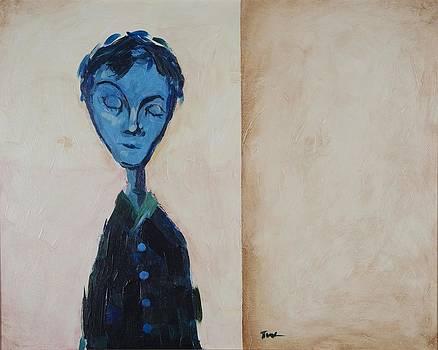 Blue Figure I by Tom Wright