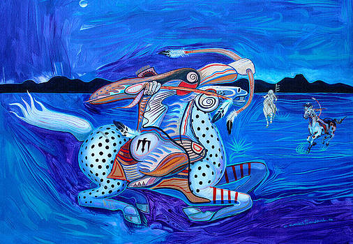 Blue Flight by Carlos Sandoval