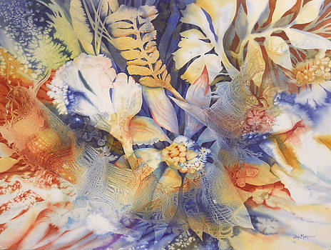 Blue Floral by Joye Moon