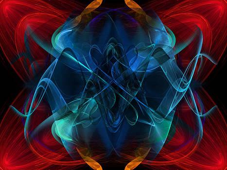 Blue Flourish by Elizabeth S Zulauf