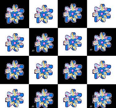 Blue Flower Dance by Ann Calvo