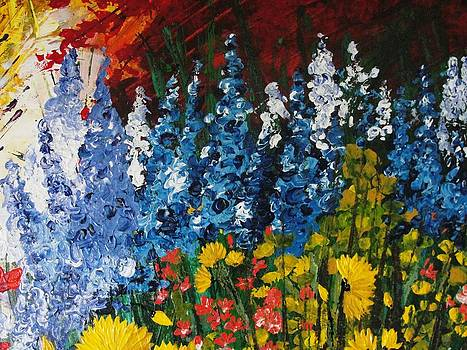 Blue flowers by Shilpi Singh