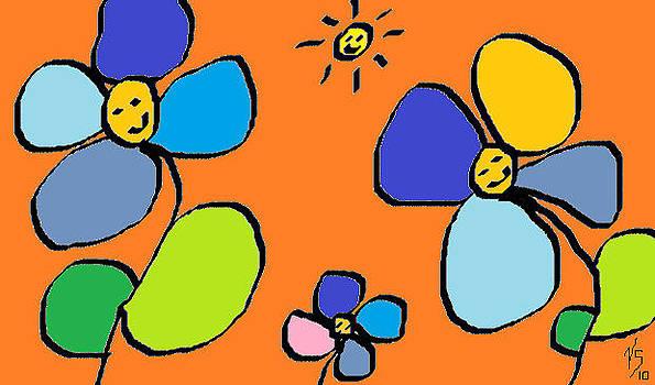 Blue Flowers by Vivian Sutherland