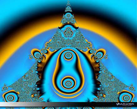 Blue Fractal 01 by A Dx