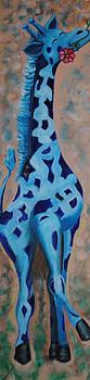 Blue Giraffe by Melanie Wadman
