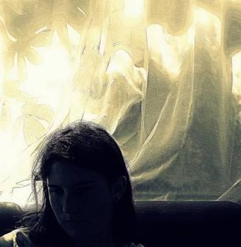 Marysue Ryan - Blue Girl with Curtain