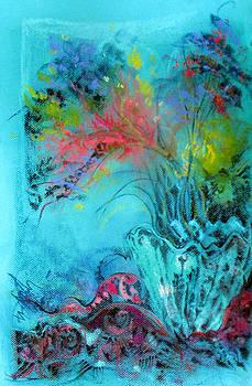 Blue Glass Spring Flowers by Josie Taglienti