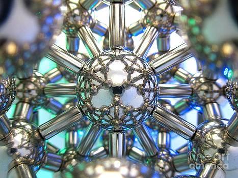 Blue-Green  Magnetic Lotus Flower by Mark Teeter