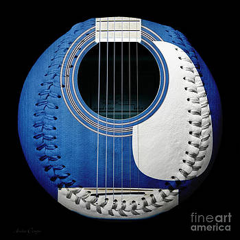 Andee Design - Blue Guitar Baseball White Laces Square