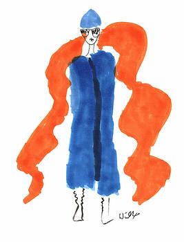 Mark Wilcox - Blue Hat With Orange Hair