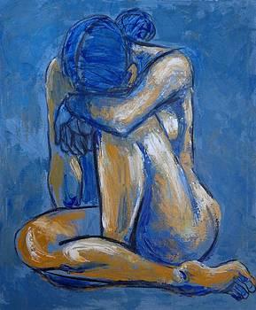Blue Heart - Female Nude by Carmen Tyrrell